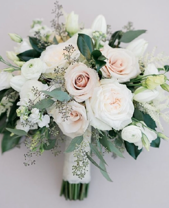 Wedding bouquet of mixed flowers